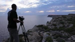 Dagmawi Yimer a Lampedusa durante le riprese di Soltanto il Mare (2010)